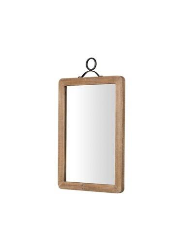 Warm Design Büyük Ahşap Çerçeveli Duvar Aynası Kahve